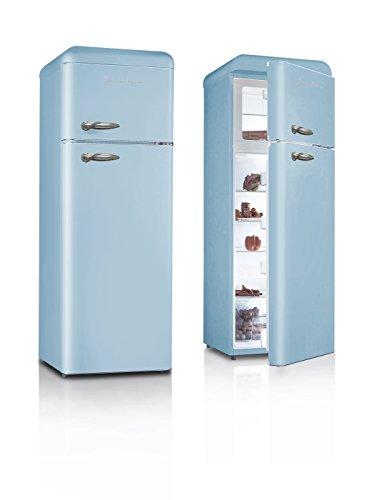 schschaub lorenz sl208ddbl r frig rateur vintage bleu deux portes 20. Black Bedroom Furniture Sets. Home Design Ideas