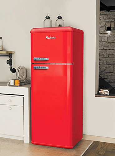 radiola rardp212rl refrigerateur vintage 2 portes 212l rouge. Black Bedroom Furniture Sets. Home Design Ideas